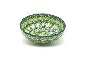 Ceramika Artystyczna Polish Pottery Bowl - Shallow Scalloped - Small - Irish Meadow 023-1888q (Ceramika Artystyczna )