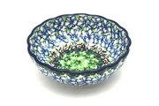 Ceramika Artystyczna Polish Pottery Bowl - Shallow Scalloped - Small - Kiwi 023-1479a (Ceramika Artystyczna)