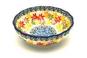 Ceramika Artystyczna Polish Pottery Bowl - Shallow Scalloped - Small - Maple Harvest 023-2533a (Ceramika Artystyczna )