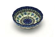 Ceramika Artystyczna Polish Pottery Bowl - Shallow Scalloped - Small - Morning Glory 023-1915a (Ceramika Artystyczna)