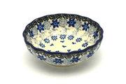 Ceramika Artystyczna Polish Pottery Bowl - Shallow Scalloped - Small - Silver Lace 023-2158a (Ceramika Artystyczna )