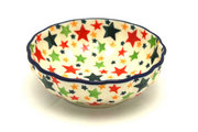 Ceramika Artystyczna Polish Pottery Bowl - Shallow Scalloped - Small - Star Studded 023-2258a (Ceramika Artystyczna)