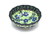 Ceramika Artystyczna Polish Pottery Bowl - Shallow Scalloped - Small - Sweet Violet 023-1538a (Ceramika Artystyczna)