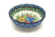 Ceramika Artystyczna Polish Pottery Bowl - Shallow Scalloped - Small - Unikat Signature U3347 023-U3347 (Ceramika Artystyczna)