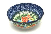 Ceramika Artystyczna Polish Pottery Bowl - Shallow Scalloped - Small - Unikat Signature U3516 023-U3516 (Ceramika Artystyczna)