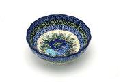 Ceramika Artystyczna Polish Pottery Bowl - Shallow Scalloped - Small - Unikat Signature U4520 023-U4520 (Ceramika Artystyczna)