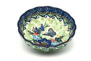 Ceramika Artystyczna Polish Pottery Bowl - Shallow Scalloped - Small - Unikat Signature U4600 023-U4600 (Ceramika Artystyczna)