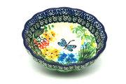 Ceramika Artystyczna Polish Pottery Bowl - Shallow Scalloped - Small - Unikat Signature U4612 023-U4612 (Ceramika Artystyczna)