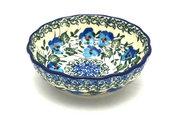 Ceramika Artystyczna Polish Pottery Bowl - Shallow Scalloped - Small - Winter Viola 023-2273a (Ceramika Artystyczna)