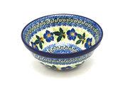 """Ceramika Artystyczna Polish Pottery Bowl - Small Nesting (5 1/2"""") - Blue Pansy 059-1552a (Ceramika Artystyczna)"""