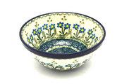 """Ceramika Artystyczna Polish Pottery Bowl - Small Nesting (5 1/2"""") - Blue Spring Daisy 059-614a (Ceramika Artystyczna)"""