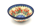"""Ceramika Artystyczna Polish Pottery Bowl - Small Nesting (5 1/2"""") - Crimson Bells 059-1437a (Ceramika Artystyczna)"""
