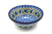 """Ceramika Artystyczna Polish Pottery Bowl - Small Nesting (5 1/2"""") - Peacock Feather 059-1513a (Ceramika Artystyczna)"""