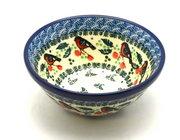 """Ceramika Artystyczna Polish Pottery Bowl - Small Nesting (5 1/2"""") - Red Robin 059-1257a (Ceramika Artystyczna)"""