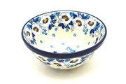 """Ceramika Artystyczna Polish Pottery Bowl - Small Nesting (5 1/2"""") - White Poppy 059-2222a (Ceramika Artystyczna)"""