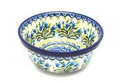 Ceramika Artystyczna Polish Pottery Bowl - Soup and Salad - Blue Bells 209-1432a (Ceramika Artystyczna)