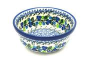 Ceramika Artystyczna Polish Pottery Bowl - Soup and Salad - Blue Berries 209-1416a (Ceramika Artystyczna)