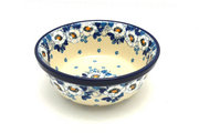 Ceramika Artystyczna Polish Pottery Bowl - Soup and Salad - White Poppy 209-2222a (Ceramika Artystyczna)