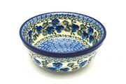 Ceramika Artystyczna Polish Pottery Bowl - Soup and Salad - Winter Viola 209-2273a (Ceramika Artystyczna)