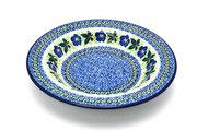 Ceramika Artystyczna Polish Pottery Bowl - Soup/Pasta - Blue Pansy 014-1552a (Ceramika Artystyczna)