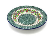 Ceramika Artystyczna Polish Pottery Bowl - Soup/Pasta - Burgundy Berry Green 014-1415a (Ceramika Artystyczna)