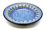 Ceramika Artystyczna Polish Pottery Bowl - Soup/Pasta - Peacock Feather 014-1513a (Ceramika Artystyczna)