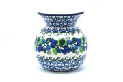 Ceramika Artystyczna Polish Pottery Bubble Vase - Blue Berries 048-1416a (Ceramika Artystyczna)