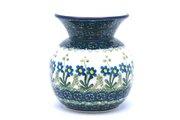 Ceramika Artystyczna Polish Pottery Bubble Vase - Blue Spring Daisy 048-614a (Ceramika Artystyczna)