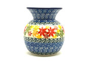 Ceramika Artystyczna Polish Pottery Bubble Vase - Maple Harvest 048-2533a (Ceramika Artystyczna)