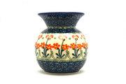 Ceramika Artystyczna Polish Pottery Bubble Vase - Peach Spring Daisy 048-560a (Ceramika Artystyczna)