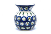 Ceramika Artystyczna Polish Pottery Bubble Vase - Peacock 048-054a (Ceramika Artystyczna)
