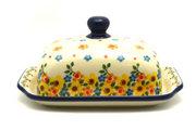Ceramika Artystyczna Polish Pottery Butter Dish - Buttercup 295-2225a (Ceramika Artystyczna)