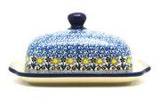 Ceramika Artystyczna Polish Pottery Butter Dish - Daisy Maize 295-2178a (Ceramika Artystyczna)