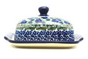 Ceramika Artystyczna Polish Pottery Butter Dish - Huckleberry 295-1413a (Ceramika Artystyczna)