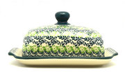 Ceramika Artystyczna Polish Pottery Butter Dish - Irish Meadow 295-1888q (Ceramika Artystyczna)