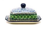 Ceramika Artystyczna Polish Pottery Butter Dish - Kiwi 295-1479a (Ceramika Artystyczna)