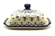 Ceramika Artystyczna Polish Pottery Butter Dish - Silver Lace 295-2158a (Ceramika Artystyczna)