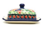 Ceramika Artystyczna Polish Pottery Butter Dish - Unikat Signature - U3516 295-U3516 (Ceramika Artystyczna)