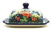 Ceramika Artystyczna Polish Pottery Butter Dish - Unikat Signature - U4553 295-U4553 (Ceramika Artystyczna)