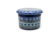 Ceramika Artystyczna Polish Pottery Butter Keeper - Aztec Sky 270-1917a (Ceramika Artystyczna)