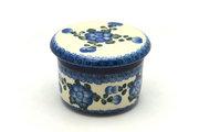 Ceramika Artystyczna Polish Pottery Butter Keeper - Blue Poppy 270-163a (Ceramika Artystyczna)