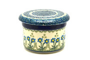 Ceramika Artystyczna Polish Pottery Butter Keeper - Blue Spring Daisy 270-614a (Ceramika Artystyczna)