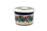 Ceramika Artystyczna Polish Pottery Butter Keeper - Garden Party 270-1535a (Ceramika Artystyczna)