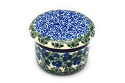 Ceramika Artystyczna Polish Pottery Butter Keeper - Huckleberry 270-1413a (Ceramika Artystyczna)