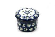 Ceramika Artystyczna Polish Pottery Butter Keeper - Peacock 270-054a (Ceramika Artystyczna)