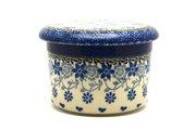 Ceramika Artystyczna Polish Pottery Butter Keeper - Silver Lace 270-2158a (Ceramika Artystyczna)