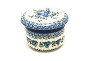 Ceramika Artystyczna Polish Pottery Butter Keeper - Winter Viola 270-2273a (Ceramika Artystyczna)
