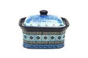 Ceramika Artystyczna Polish Pottery Cake Box - Small - Aztec Sky 385-1917a (Ceramika Artystyczna)