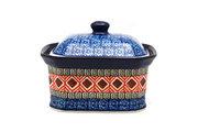 Ceramika Artystyczna Polish Pottery Cake Box - Small - Aztec Sun 385-1350a (Ceramika Artystyczna)