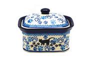 Ceramika Artystyczna Polish Pottery Cake Box - Small - Boo Boo Kitty 385-1771a (Ceramika Artystyczna)